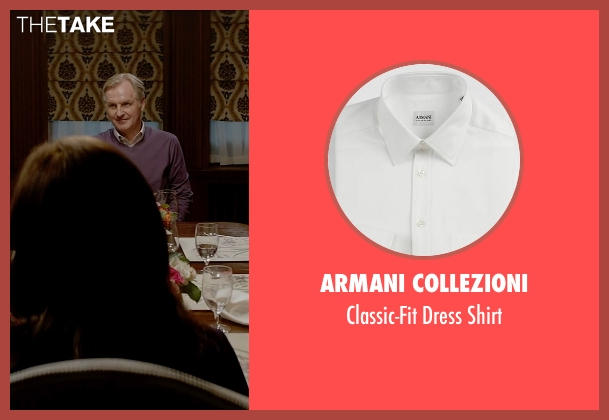 Armani Collezioni white shirt from Fifty Shades of Grey seen with Andrew Airlie (Carrick Grey)