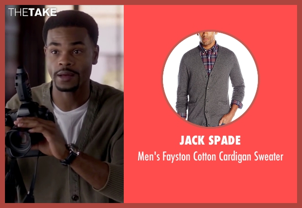 Jack Spade gray sweater from Fifty Shades of Black seen with Andrew Bachelor (Unknown Character)
