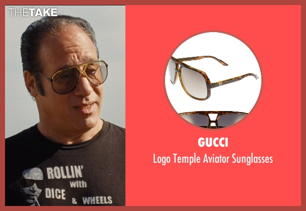 Gucci gold sunglasses from Entourage seen with Andrew Dice Clay (Unknown Character)