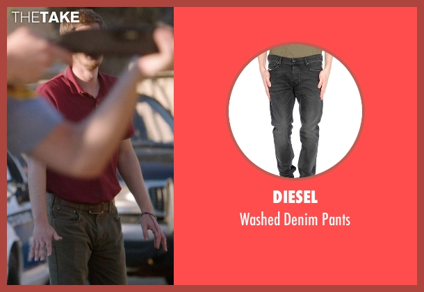 Diesel black pants from 99 Homes seen with Andrew Garfield (Dennis Nash)