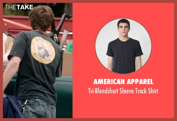 American Apparel black shirt from 99 Homes seen with Andrew Garfield (Dennis Nash)