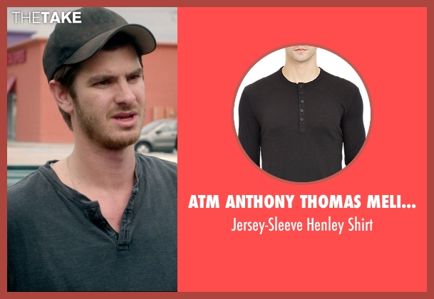 ATM Anthony Thomas Melillo black shirt from 99 Homes seen with Andrew Garfield (Dennis Nash)