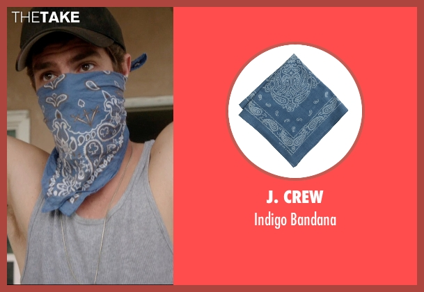 J. Crew blue bandana from 99 Homes seen with Andrew Garfield (Dennis Nash)