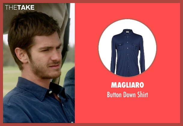 Magliaro blue shirt from 99 Homes seen with Andrew Garfield (Dennis Nash)
