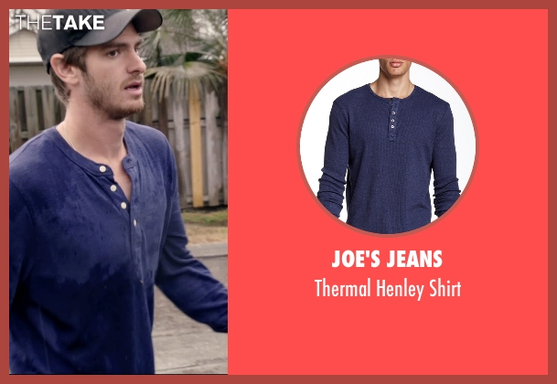 Joe's Jeans blue shirt from 99 Homes seen with Andrew Garfield (Dennis Nash)