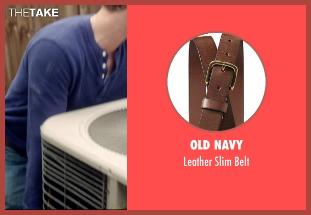 Old Navy brown belt from 99 Homes seen with Andrew Garfield (Dennis Nash)