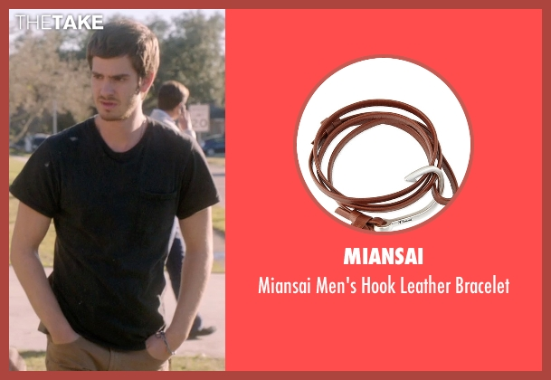 Miansai brown bracelet from 99 Homes seen with Andrew Garfield (Dennis Nash)