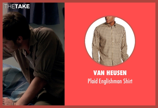 Van Heusen brown shirt from 99 Homes seen with Andrew Garfield (Dennis Nash)