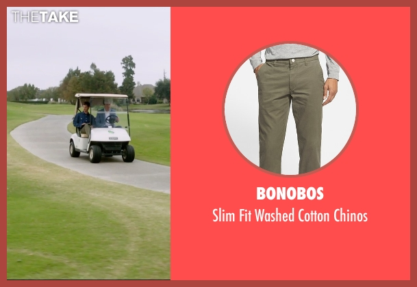 Bonobos green chinos from 99 Homes seen with Andrew Garfield (Dennis Nash)