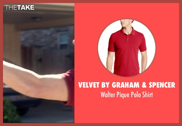 Velvet by Graham & Spencer red shirt from 99 Homes seen with Andrew Garfield (Dennis Nash)