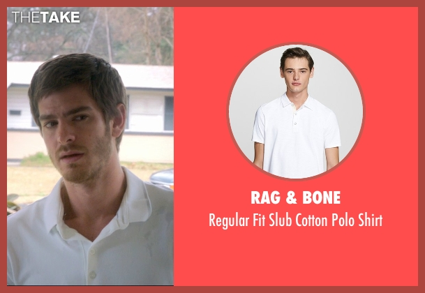 Rag & Bone white shirt from 99 Homes seen with Andrew Garfield (Dennis Nash)
