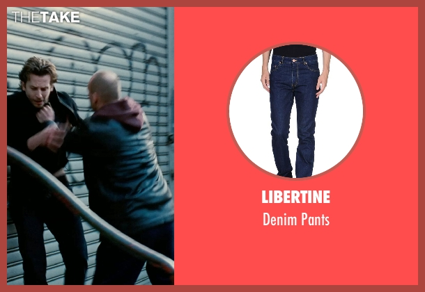 Libertine blue pants from Limitless seen with Andrew Howard (Gennady)