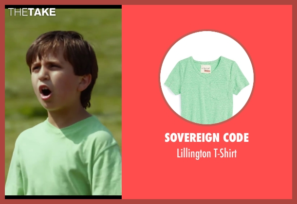 Sovereign Code green t-shirt from Let's Be Cops seen with Andrew Kochman (Upset Kid)