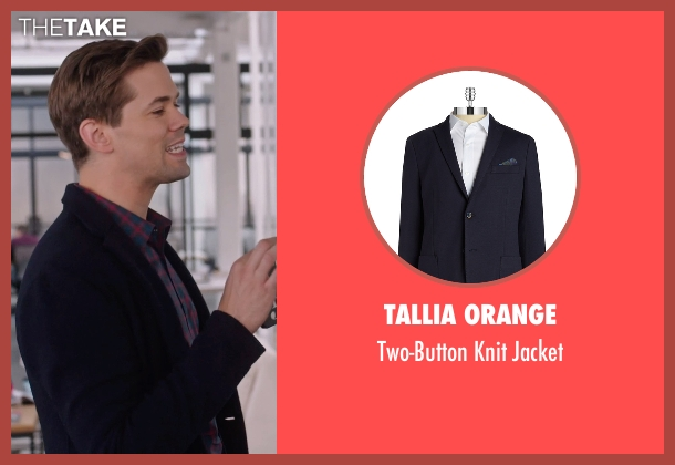 Tallia Orange blue jacket from The Intern seen with Andrew Rannells (Unknown Character)