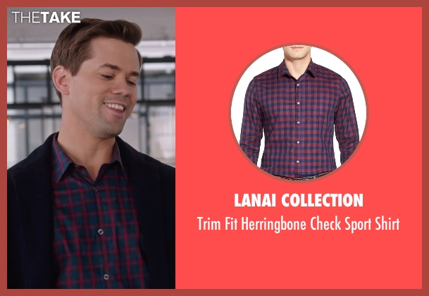Lanai Collection blue shirt from The Intern seen with Andrew Rannells (Unknown Character)