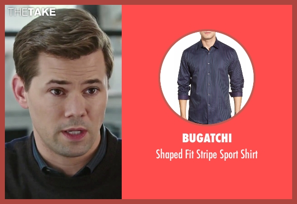Bugatchi blue shirt from The Intern seen with Andrew Rannells (Unknown Character)