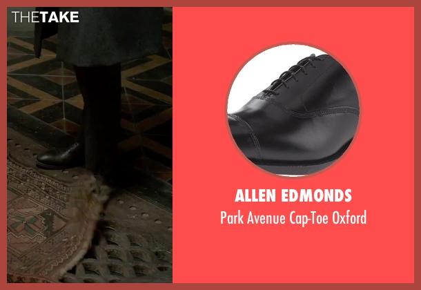 Allen Edmonds black oxford from Victor Frankenstein seen with Andrew Scott (Roderick Turpin)