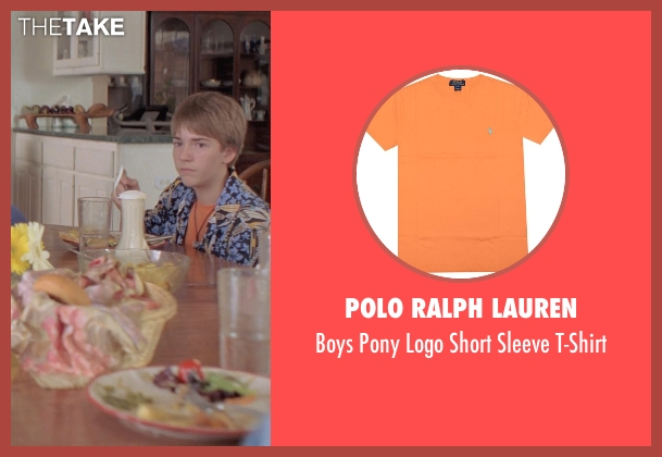 Polo Ralph Lauren orange t-shirt from Boyhood seen with Andrew Villarreal (Randy)