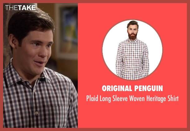 Original Penguin white shirt from Modern Family seen with Andy Bailey (Adam DeVine)