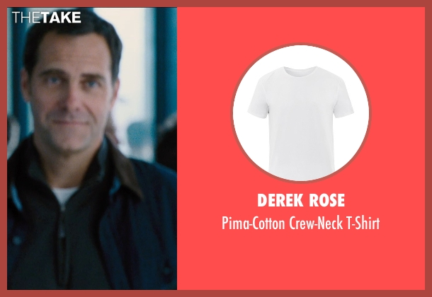 Derek Rose white t-shirt from Jurassic World seen with Andy Buckley (Unknown Character)