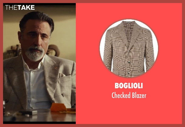 Boglioli brown blazer from Let's Be Cops seen with Andy Garcia