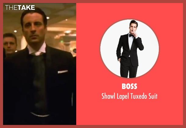 Boss black suit from Ocean's Eleven seen with Andy Garcia (Terry Benedict)