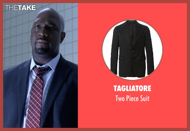 Tagliatore black suit from American Horror Story seen with Andy Hahn (Richard T. Jones)