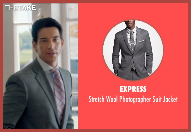 Express gray jacket from And So It Goes seen with Andy Karl (Ted Westburg)