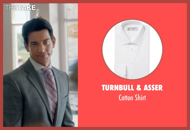 Turnbull & Asser white shirt from And So It Goes seen with Andy Karl (Ted Westburg)