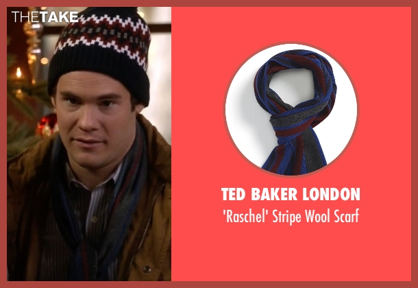 Ted Baker London blue scarf from Modern Family seen with Andy (Adam DeVine)
