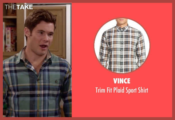 Vince green shirt from Modern Family seen with Andy (Adam DeVine)