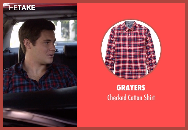 Grayers red shirt from Modern Family seen with Andy (Adam DeVine)