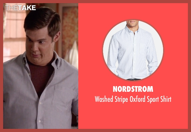 Nordstrom white shirt from Modern Family seen with Andy (Adam DeVine)