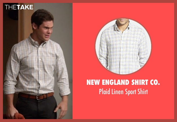 New England Shirt Co. white shirt from Modern Family seen with Andy (Adam DeVine)