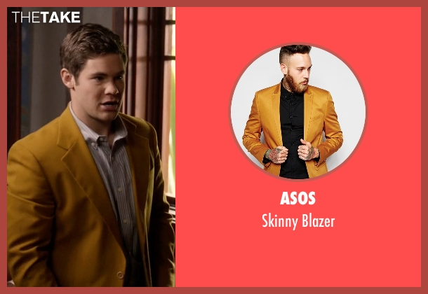 Asos yellow blazer from Modern Family seen with Andy (Adam DeVine)