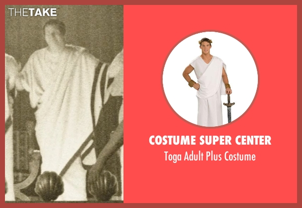 Costume Super Center costume from Neighbors seen with Andy Samberg (Toga #1)