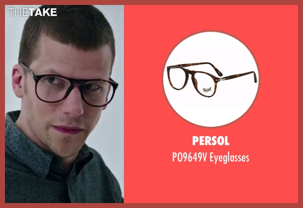 Persol brown eyeglasses from Now You See Me 2 seen with Andy Samberg (J. Daniel Atlas)