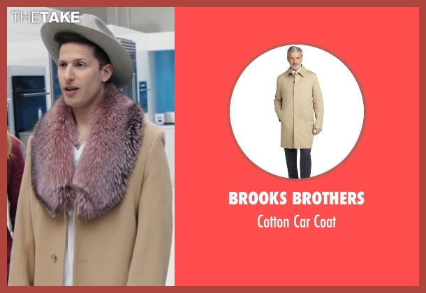 Brooks Brothers beige coat from Popstar: Never Stop Never Stopping seen with Andy Samberg (Conner4Real)
