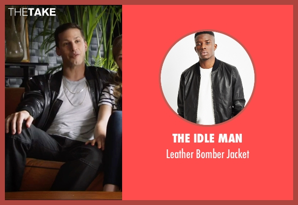 The Idle Man  black jacket from Popstar: Never Stop Never Stopping seen with Andy Samberg (Conner4Real)