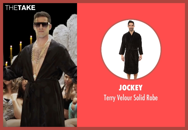 Jockey black robe from Popstar: Never Stop Never Stopping seen with Andy Samberg (Conner4Real)
