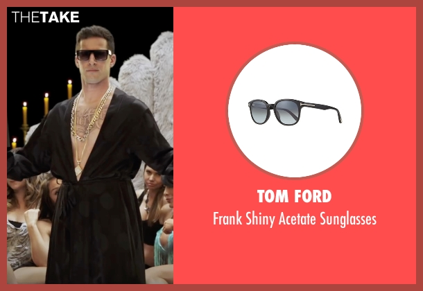 Tom Ford black sunglasses from Popstar: Never Stop Never Stopping seen with Andy Samberg (Conner4Real)