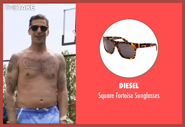 Diesel black sunglasses from Popstar: Never Stop Never Stopping seen with Andy Samberg (Conner4Real)