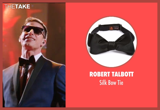 Robert Talbott black tie from Popstar: Never Stop Never Stopping seen with Andy Samberg (Conner4Real)