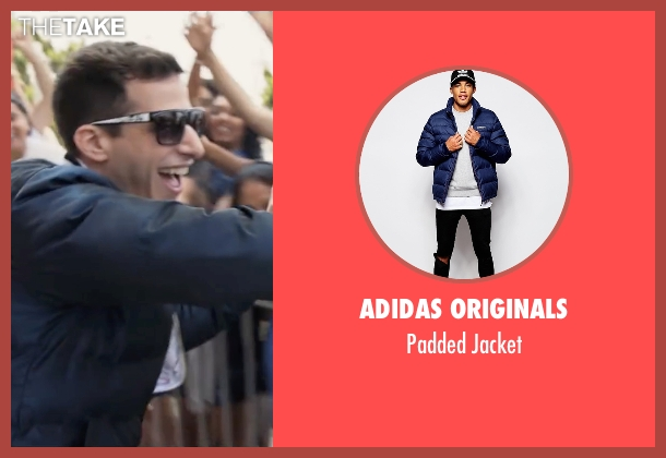 Adidas Originals blue jacket from Popstar: Never Stop Never Stopping seen with Andy Samberg (Conner4Real)