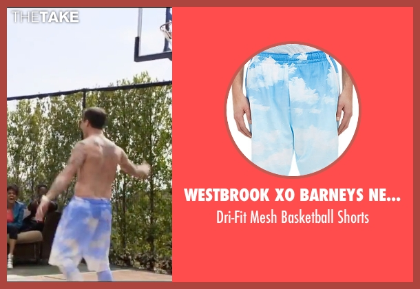 Westbrook XO Barneys New York X Jordan blue shorts from Popstar: Never Stop Never Stopping seen with Andy Samberg (Conner4Real)