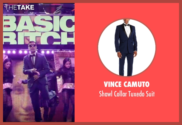 Vince Camuto blue suit from Popstar: Never Stop Never Stopping seen with Andy Samberg (Conner4Real)