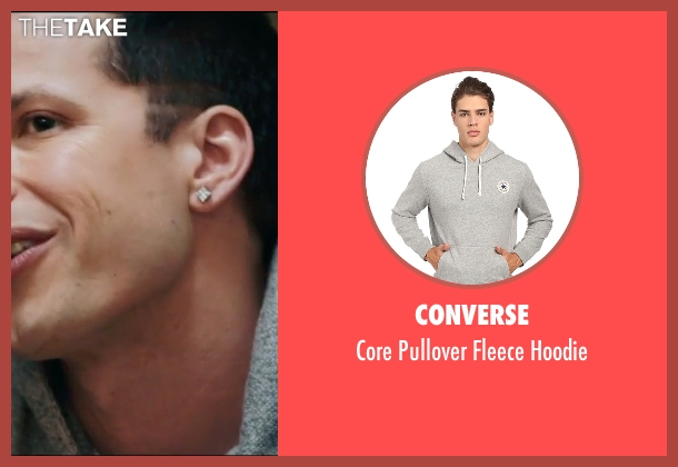 Converse gray hoodie from Popstar: Never Stop Never Stopping seen with Andy Samberg (Conner4Real)