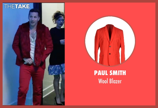 Paul Smith red blazer from Popstar: Never Stop Never Stopping seen with Andy Samberg (Conner4Real)