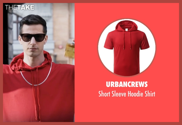 Urbancrews red shirt from Popstar: Never Stop Never Stopping seen with Andy Samberg (Conner4Real)