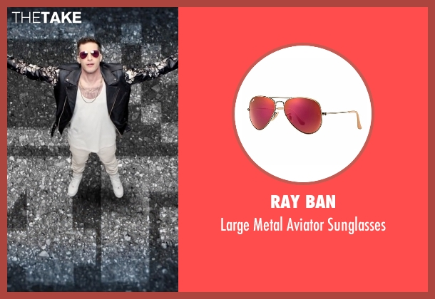 Ray Ban red sunglasses from Popstar: Never Stop Never Stopping seen with Andy Samberg (Conner4Real)